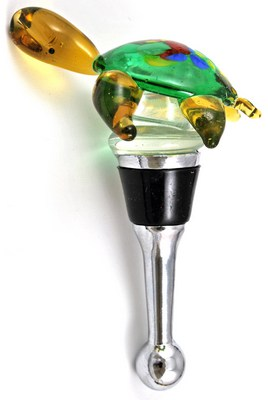 sea turtle glass bottle stopper