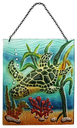 sea turtle glass suncatcher