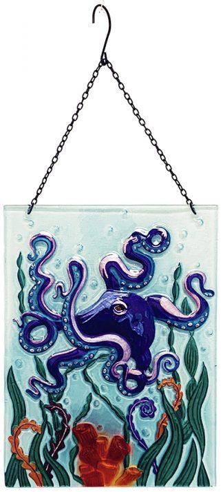 octopus glass suncatcher