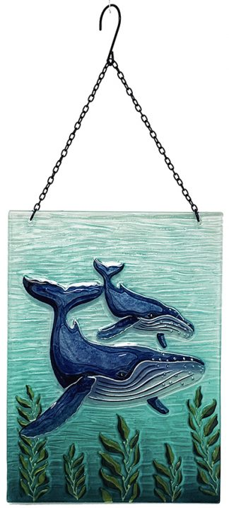 whale glass suncatcher