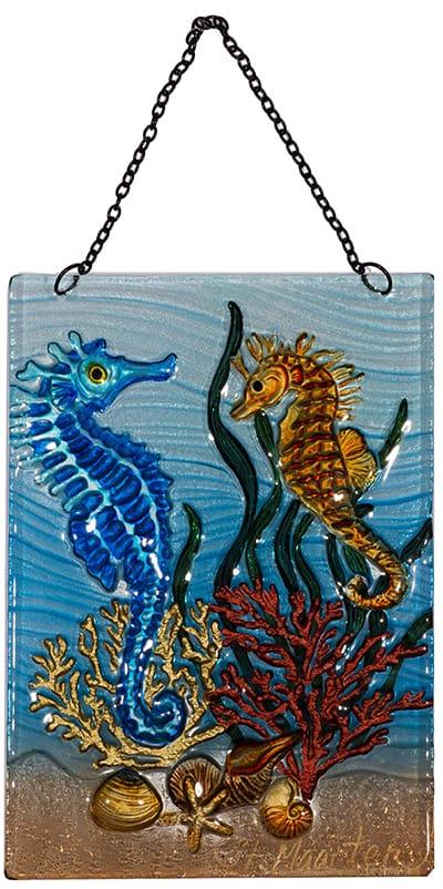 seahorse glass suncatcher