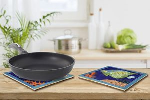 Splendid Blue Angelfish Tile Trivet 3