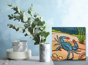 Delightful Blue Crab Tile Trivet 2