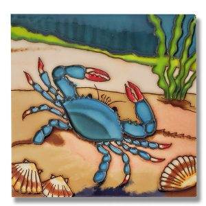 Delightful Blue Crab Tile Trivet 1
