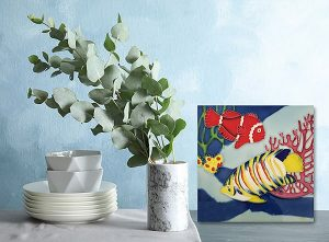 Incredible Butterfly Fish Tile Trivet 2