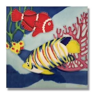 Incredible Butterfly Fish Tile Trivet 1
