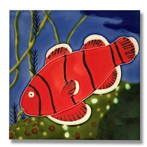 Fantastic Anemone Fish Tile Trivet 1