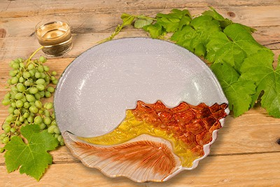"Conch Glass Plate - 12"" 3"