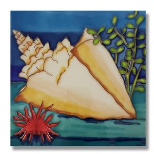 Captivating Conch Tile Trivet 1
