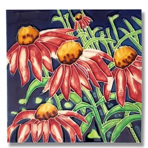 Amazing Coneflower Tile Trivet 1