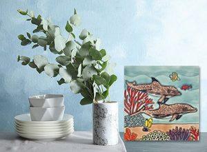 Brilliant Dolphin Paradise Tile Trivet 2