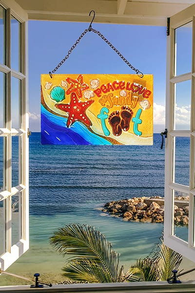 Fabulous Footprint Glass Suncatcher 2