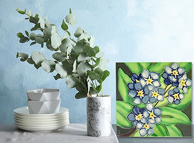 Magnificent Forget-Me-Not Tile Trivet 3