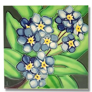 Magnificent Forget-Me-Not Tile Trivet 2