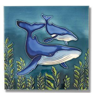 Amazing Humpback Whale Tile Trivet 1