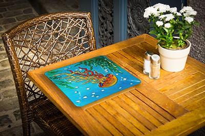 "Jellyfish Glass Plate - 12"" 2"