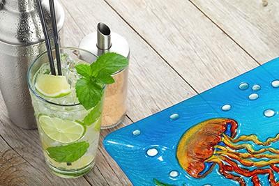 "Jellyfish Glass Plate - 12"" 1"
