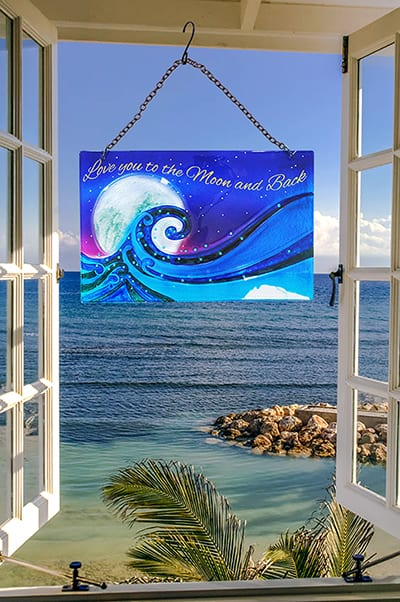 Marvelous Ocean Moon Glass Suncatcher 2