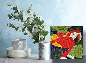 Colorful Parrot Tile Trivet 2
