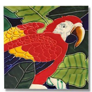 Colorful Parrot Tile Trivet 1