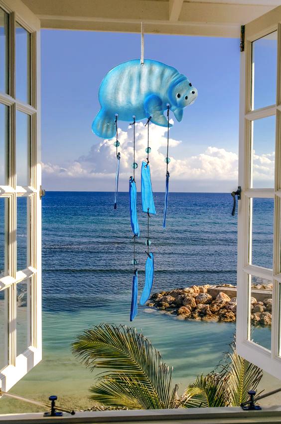 Manatee Glass Wind Chime 1