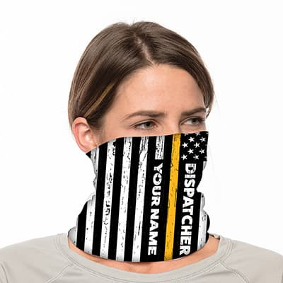 "Custom Neck Gaiter - 18"" Long Microfiber Polyester - Add Your Own Text 3"
