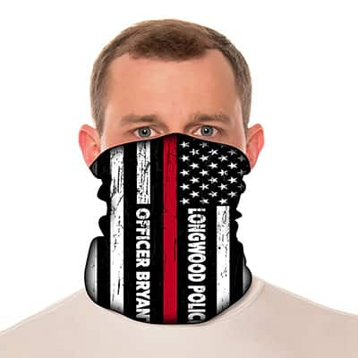 "Custom Neck Gaiter - 18"" Long Microfiber Polyester - Add Your Own Text 2"