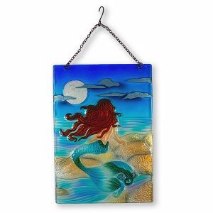 Majestic Moonlight Mermaid Glass Suncatcher 1