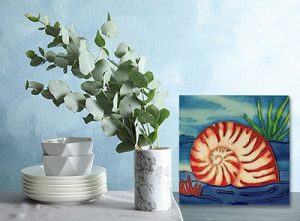 Superb Nautilus Tile Trivet 2