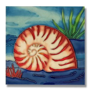 Superb Nautilus Tile Trivet 1