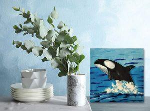 Extraordinary Orca Tile Trivet 2