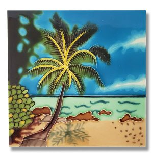 Alluring Palm Tree Tile Trivet 1