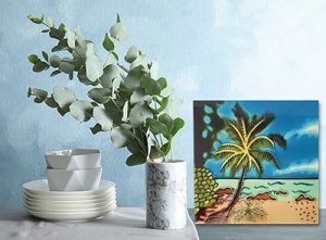 Alluring Palm Tree Tile Trivet 2