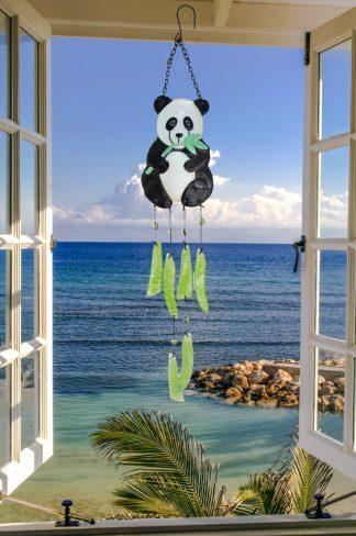 Panda Glass Wind Chime 1