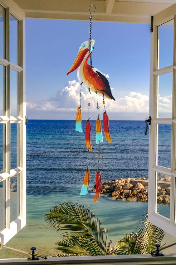 Pelican Glass Wind Chime 3