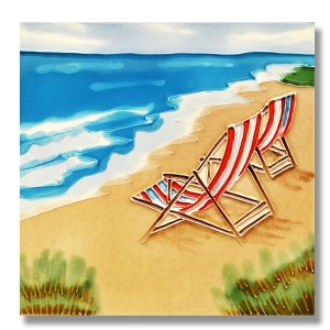 Marvelous Beach Chair Tile Trivet 1