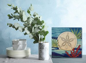 Sensational Sand Dollar Tile Trivet 2