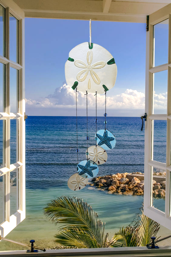 Sand Dollar Glass Wind Chime 3