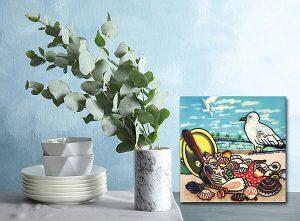Sensational Seagull and Shells Tile Trivet 2