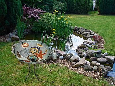 "Seashell Medley Glass Bowl - 18"" 5"