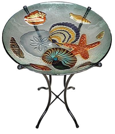 "Seashell Medley Glass Bowl - 18"" 7"