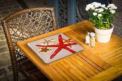 """Starfish Glass Plate - 12"""" 2"""