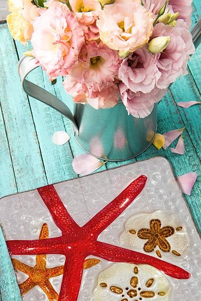 """Starfish Glass Plate - 12"""" 4"""