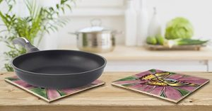 Striking Swallowtail Tile Trivet 3