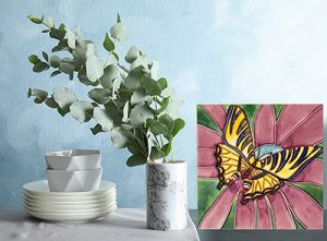 Striking Swallowtail Tile Trivet 2