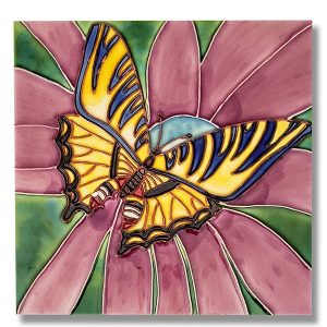 Striking Swallowtail Tile Trivet 1