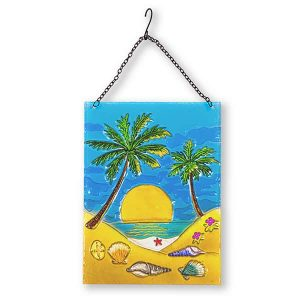 Pretty Palm Tree Glass Suncatcher 1