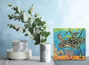 Captivating Sea Turtle Tile Trivet 2