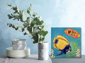 Stunning Yellow Angelfish  Tile Trivet 2