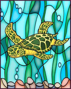 sea turtle window cling